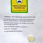 """Plakat Müllsammelaktion """"Abfallpaten packen an."""""""