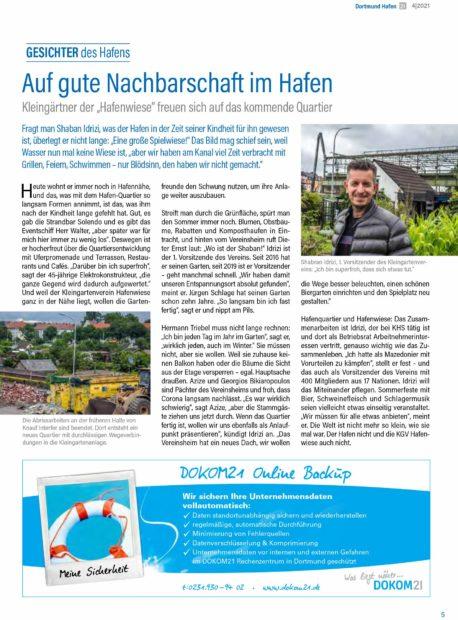 Interview mit dem 1. Vorsitzenden des KGV Hafenwiese zur Entwicklung des Hafenquartiers