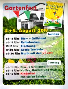 Foto Plakat Sommerfest 2018 des KGV Hafenwiese